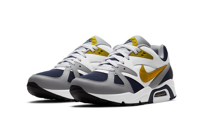 nike sportswear air structure triax 91 navy gray white gold db1549 400 2021 official release date info photos price store list buying guide