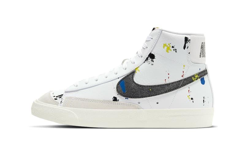 Nike Blazer Mid '77 Paint Splatter Release Info sneaker footwear white blue yellow red dc7331100