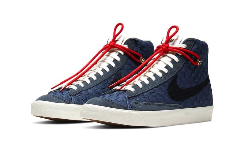Nike Blazer Mid '77 Sashiko Barely Rose Navy Blue Release Info dd5402-078 dd5486-492 Buy Price Date