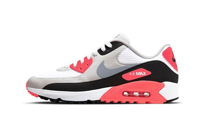 """Nike Golf Debuts Its OG """"Infrared"""" Air Max 90 Colorway Tinker Hatfield 30th Anniversary Runner"""