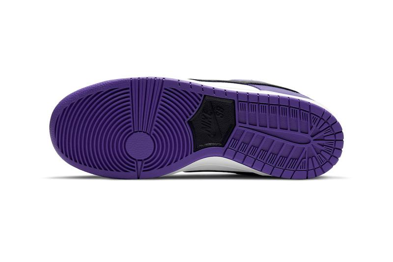 Nike SB Dunk Low Court Purple Official Look Release Info bq6817-500 Date Buy Price White Black