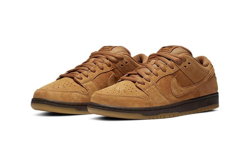 """Nike SB Dunk Low Pro """"Wheat"""" BQ6817-204 Swoosh Sneaker Release Information Closer Look First Basketball Shoes Zoom Air """"Neutral Flax"""" """"Baroque Brown"""""""