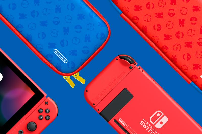 Nintendo 35 anniversary Super Mario Bros limited Edition Switch Set controllers joy cons console gaming red blue gold black