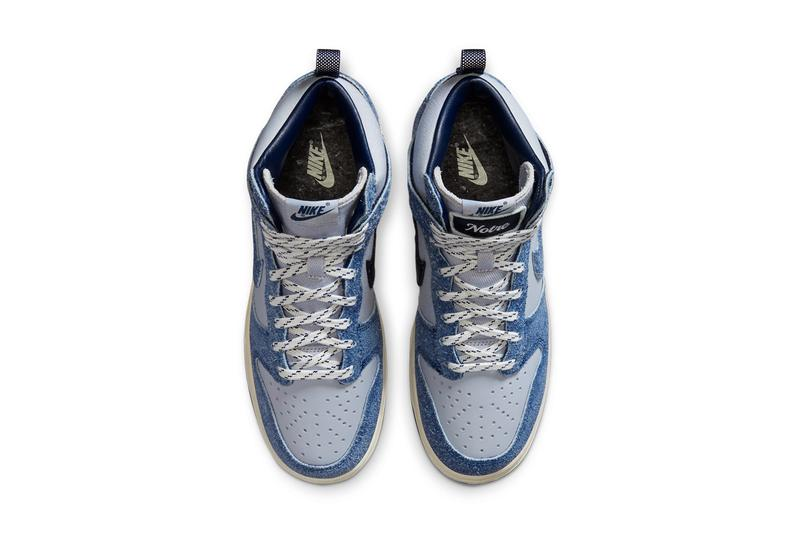 notre nike sportswear dunk high pearl white blue void grand purple gray CW3092 400 official release date info photos price store list buying guide