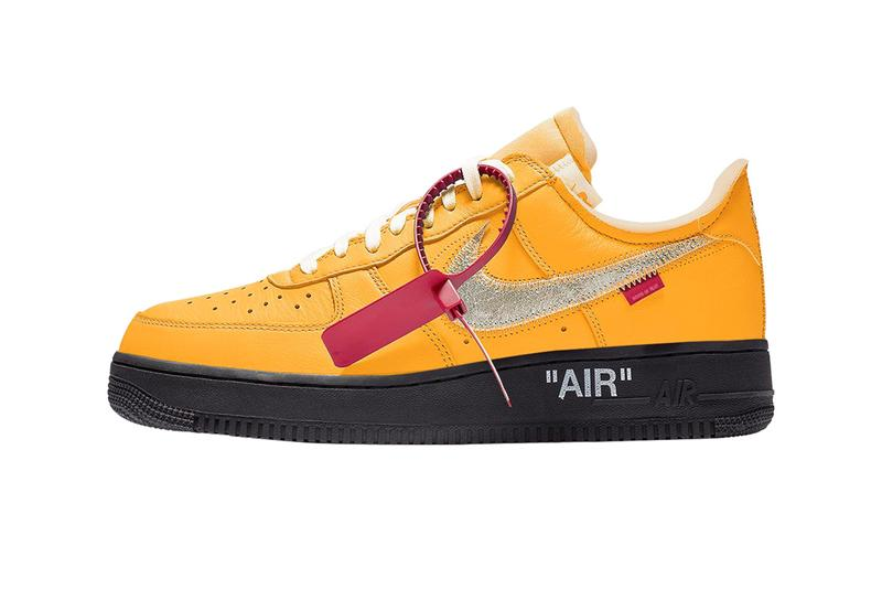 Off-White™ Nike Air Force 1 University Gold Release Date Rumor Info Buy Price Virgil Abloh ICA Institute of Contemporary Art Boston