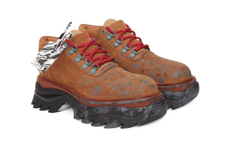 "Off-White™ Ridged Sole Lace Up Sneaker Boot Hybrid Virgil Abloh Footwear Designer Luxury Streetwear Timberland Tan Camel ""Honey Yellow / Beige"""