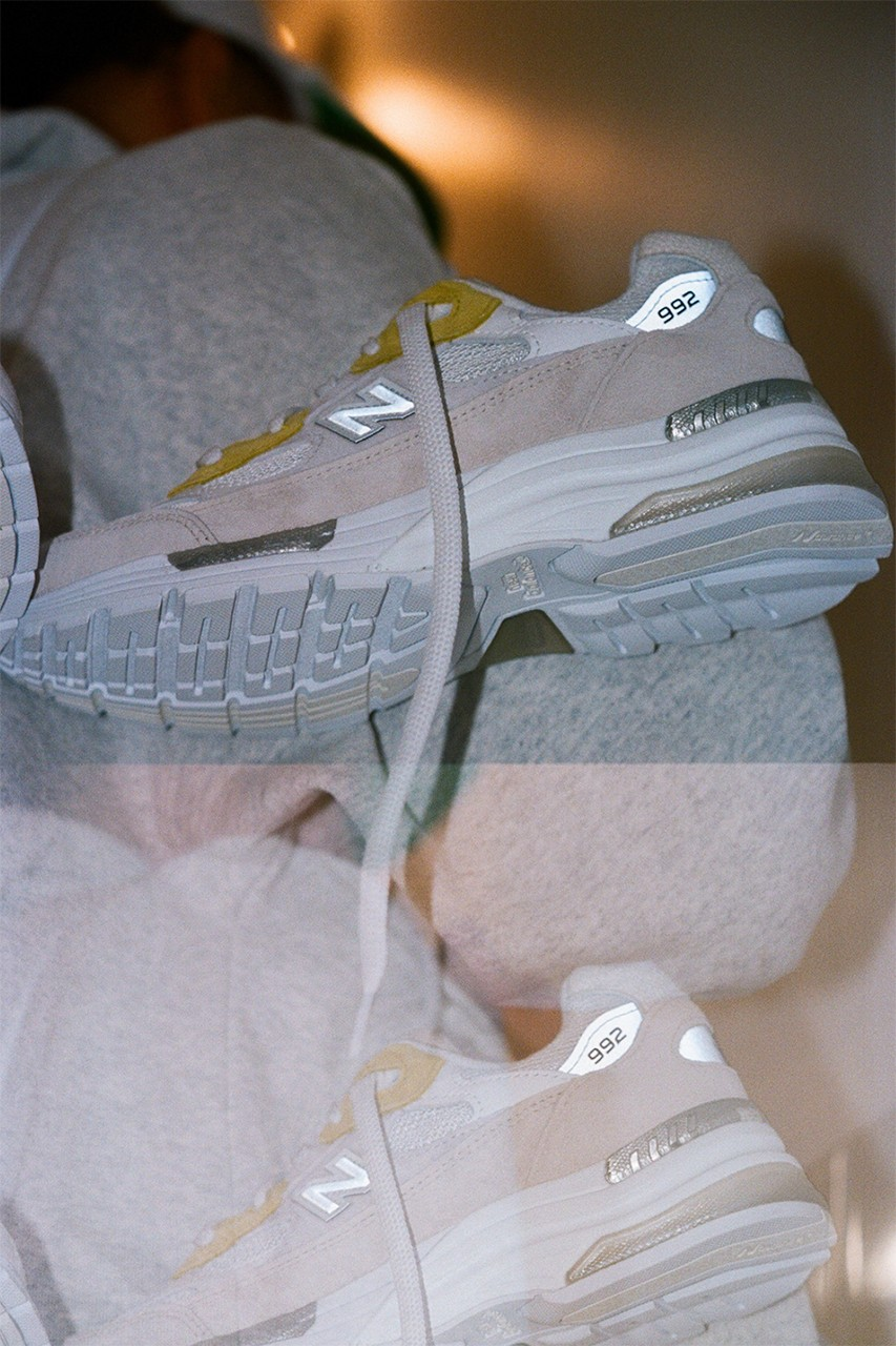 paperboy paris new balance 992 white pink yellow fried egg banga interview release details inspiration