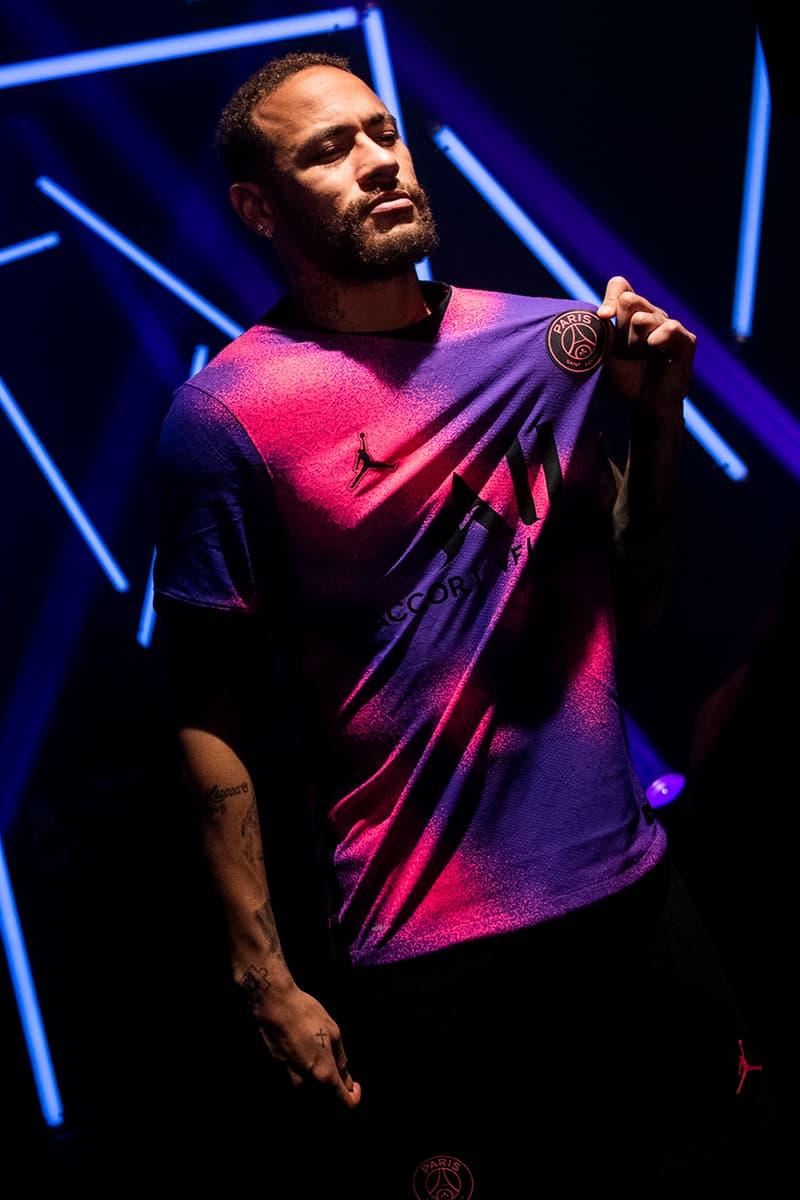 paris saint germain psg jordan brand air 1 high zoom jersey fourth kit milky way hyper pink psychic purple black release information mbappe neymar veratti details