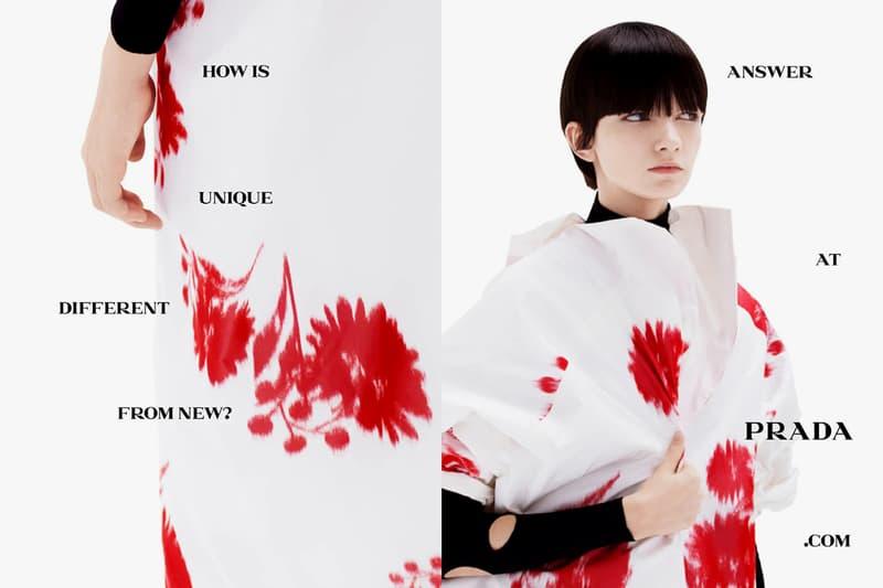 Prada Spring/Summer 2021 Collection Campaign lookbook ss21 menswear womenswear raf simons miuccia