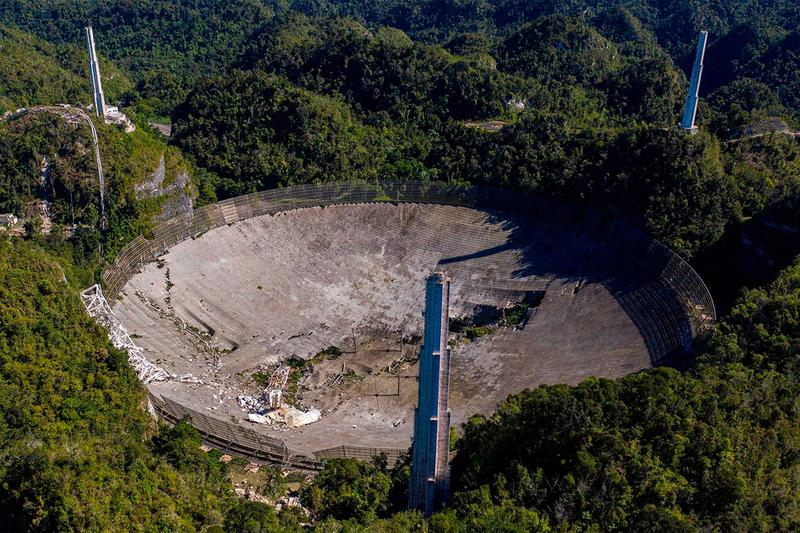 puerto rico rebuilding arecibo collapsed telescope national science foundation 8 million usd eight observatory science space