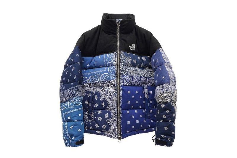 READYMADE The North Faces Down Jacket Info outerwear winter 2021 blue paisley pattern