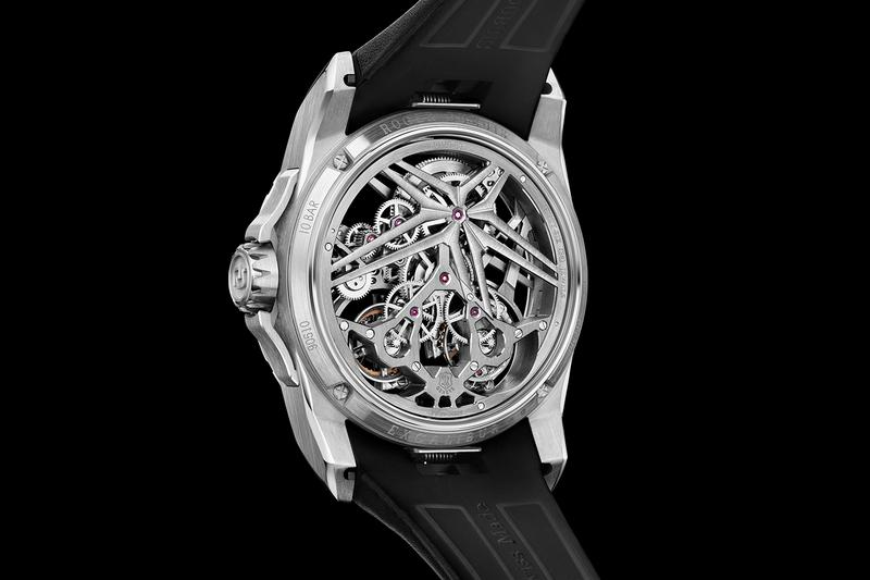 roger dubuis haute horlogerie excalibur double flying tourbillon white pink gold limited edition watches timepieces accessories