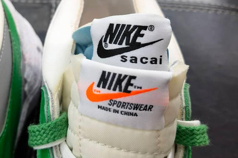 sacai nike sportswear blazer low classic green medium grey white blue DD1877 001 chitose abe official release date info photos price store list buying guide