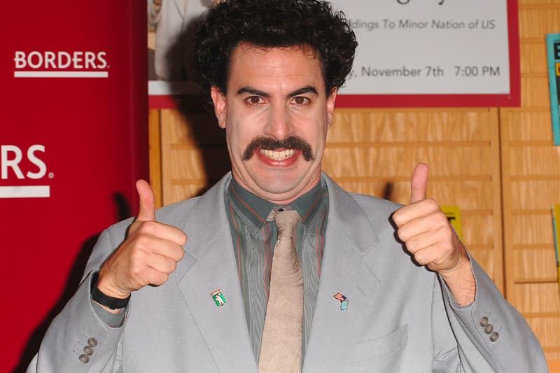 Sacha Baron Cohen retiring borat Subsequent Moviefilm donald turmp rudy guliani ali g