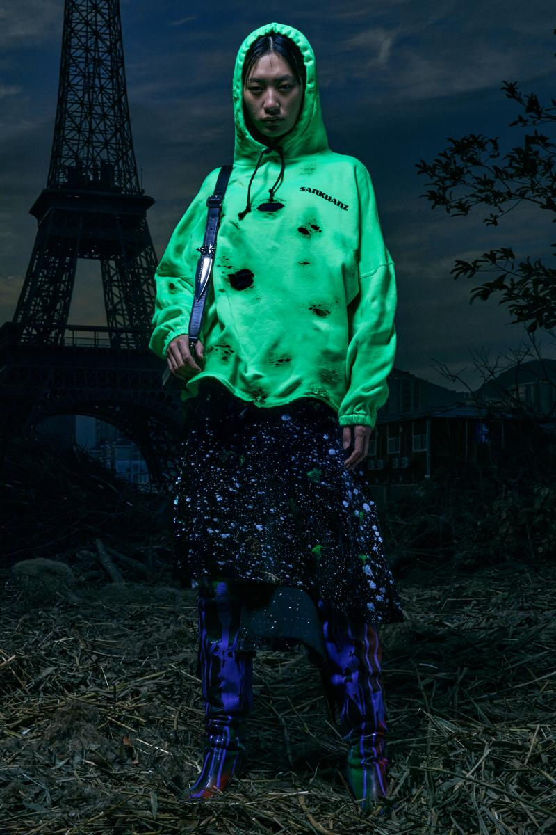 SANKUANZ FW21 Collection Lookbook Paris Fashion Week Fall Winter 2021 Shangguan Zhe Chinese Eiffel Tower