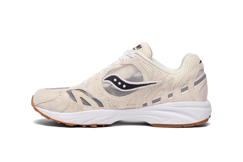 saucony grid azura 2000 ss21 colorways release info silver iridescent navy beige tan white photos store list buying guide