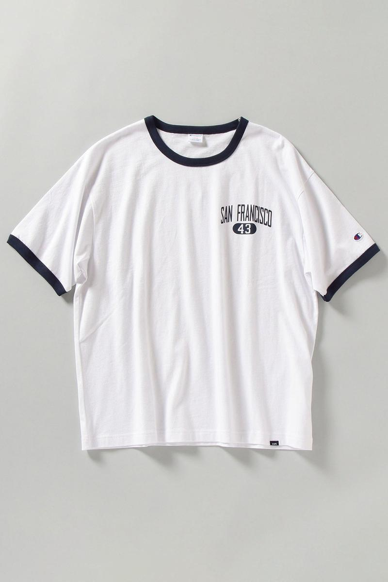 SHIPS x Champion SS21 Exclusive Shirts, Pants sweater football tee japan spring summer 2021 reverse weave vintage sportswear graphic retailer store website reverse weave pants