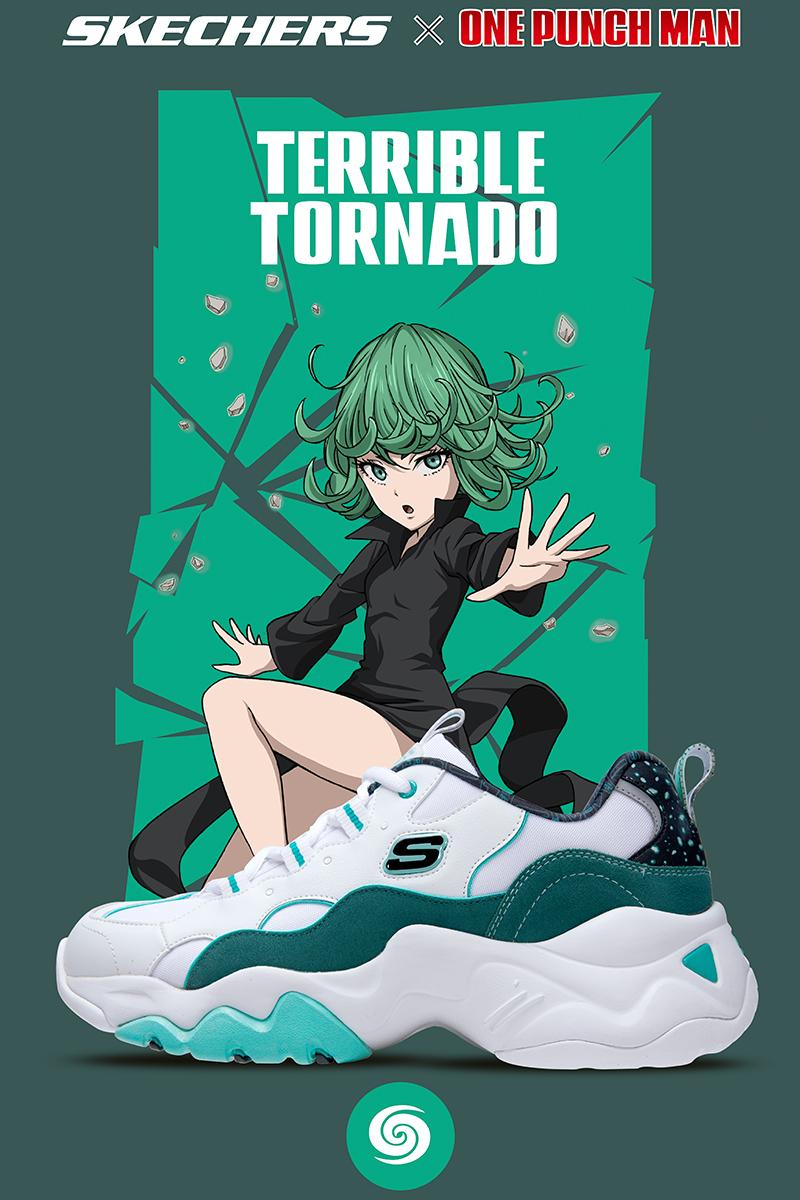 One Punch Man Collection Release Saitama, Terrible Tornado, Speed-o'-Sound Sonic, and Genos manga anime footwear sneakers kicks Singapore D'Lites 3.0