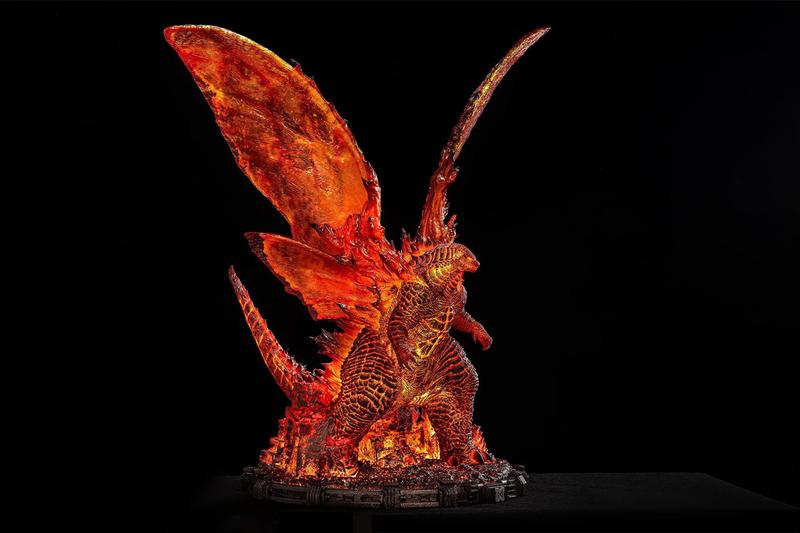 spiral studio burning godzilla king of the monsters deluxe edition model statue display toys collectibles