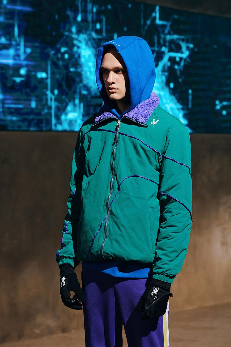 spyder fall winter 2021 collection sports milan fashion week graphic lines new era