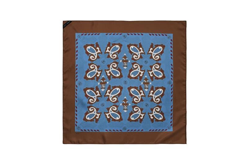 noma t d tokyo japan stussy brazilian silk scarves black brown white light blue paisley release information