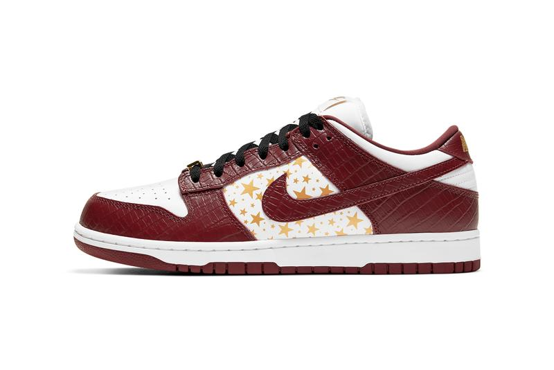 supreme nike sb skateboarding dunk low white gold black barkroot brown DH3228 103 official release date info photos price store list buying guide