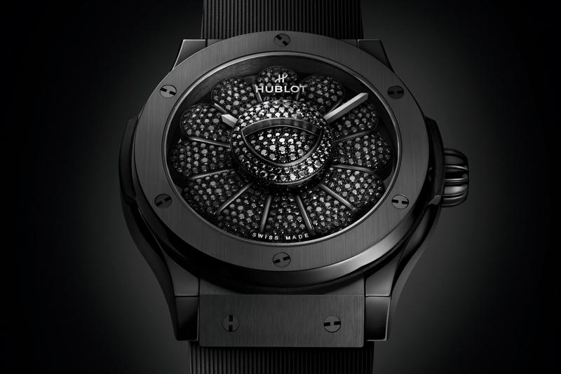 Hublot Collaborates With Japanese Contemporary Artist Takashi Murakami on Smiling Flower Classic Fusion All Black Watch