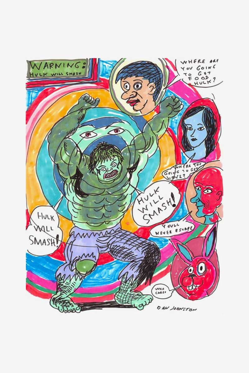 Daniel Johnston Estate Electric Lady Studios Art Collaboration Daniel Johnston: Psychedelic Drawings