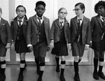Adorable Office Workers Showcase Thom Browne's Debut Childrenswear Collection