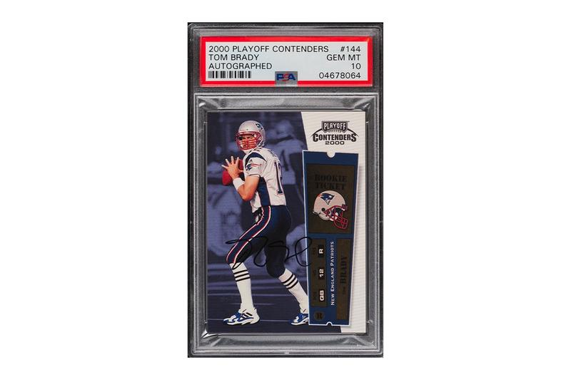 Tom Brady Autographed Patriots Rookie Card Auction $556K USD NFL American Football Tampa Bay buccaneers PWCC Auctions Trading Cards Sports New England Patriots