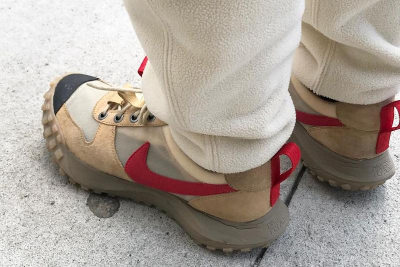 NikeCraft Mars Yard Tom Sachs On Foot Preview ACG Midsole Sole Unit Taped Toe Box Industry Workwear Semi-Translucent Swoosh Pull Tab Footwear Prototype First Look