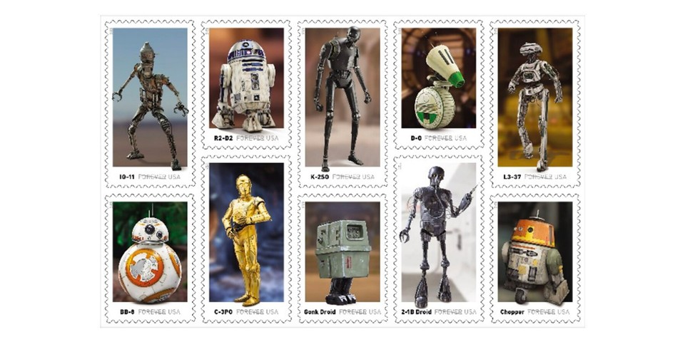 The United States Postal Service Is Releasing Commemorative 'Star Wars' Stamps