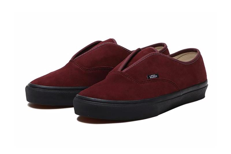 vans authentic slip on black white burgundy release info date photos price store list buying guide