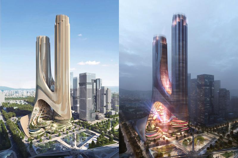 zaha hadid architects architecture sustainable shenzhen greater bay area guangdong china tower c building skyscraper