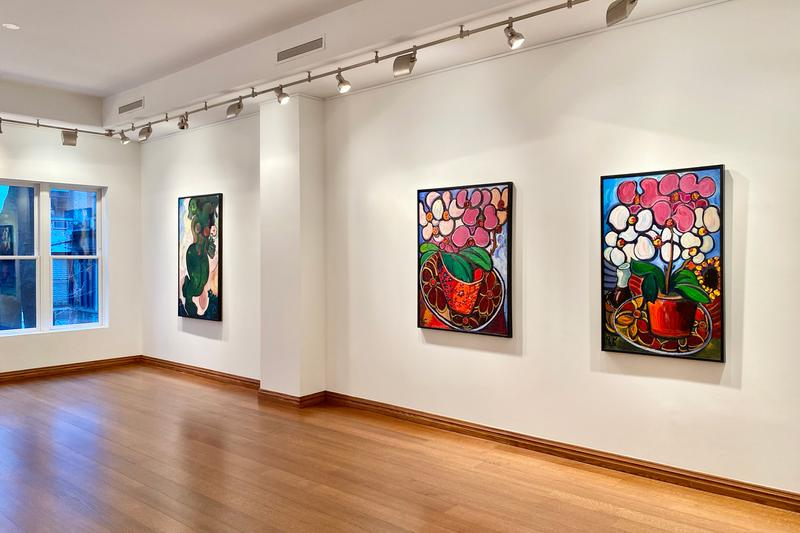 zurab tsereteli surrounded by flowers padre gallery exhibition