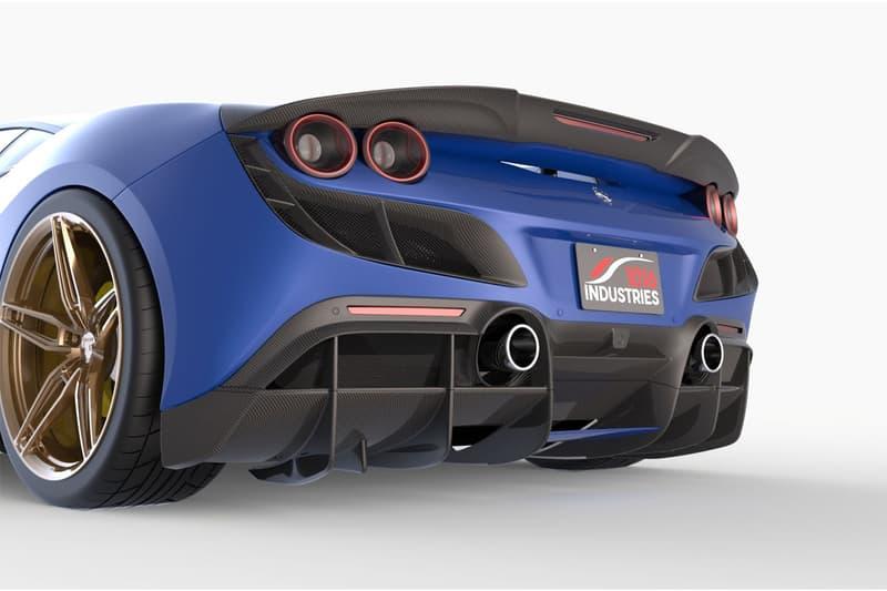 1016 industries ferrari f8 supercar 3d printing body panel kit permanent custom build