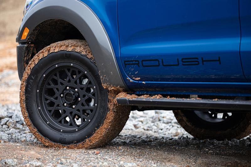2021 ROUSH Performance Ford Ranger Tuned Custom Pickup Truck American Mid-Range Off Road 4x4 Performance Suspension FOX Shocks Springs Exhaust Tune Tweak Wheels Rims