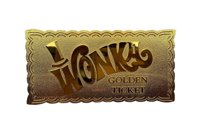 Fanattik 50th Anniversary Willy Wonka 24k Gold Winning Ticket Limited Edition Replica Buy Willy Wonka & the Chocolate Factory