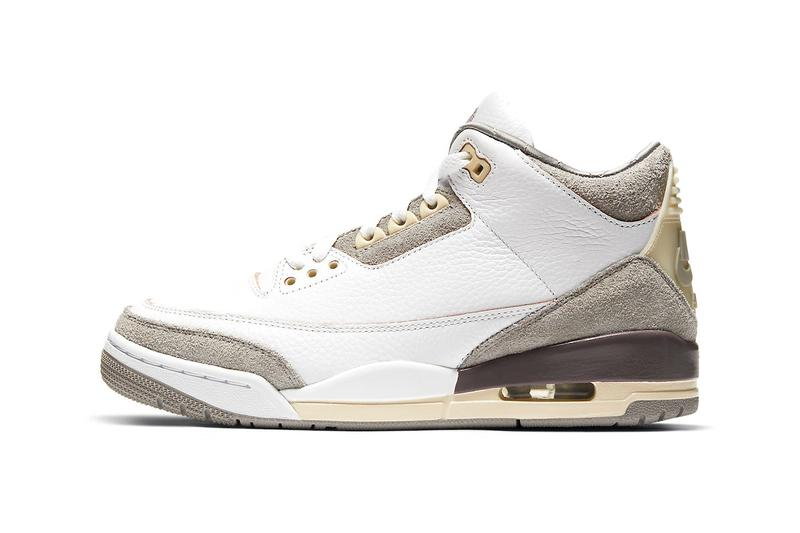 A Ma Maniere Air Jordan 3 Retro SP Official Look Release Info dh3434-110 Buy Price Date White Medium Grey Violet Ore Size