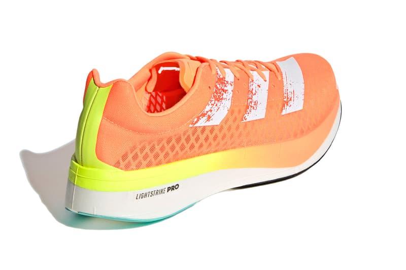 Adidas running Adios Pro adizero screaming orange colorway release information carbon fibre plate super shoe