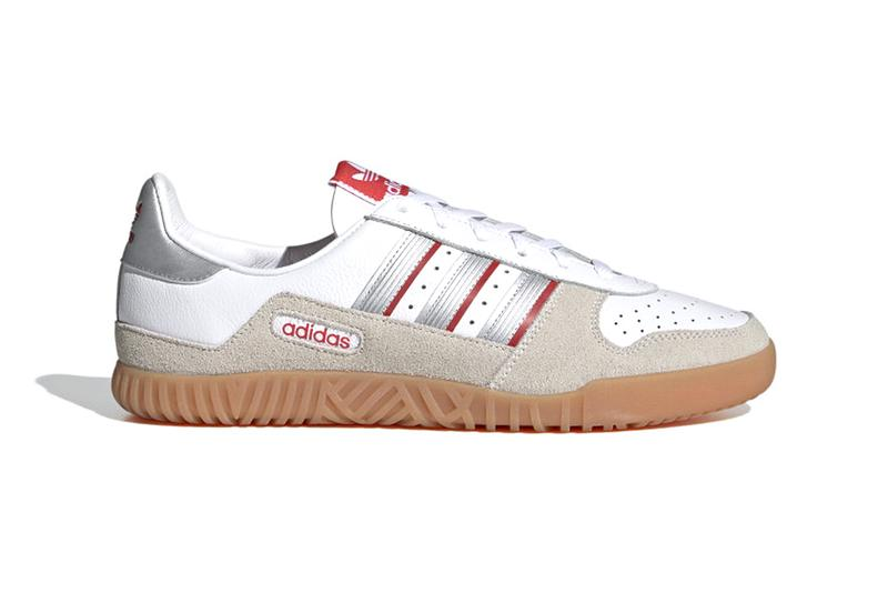 adidas INDOOR COMP Cloud White Silver Metallic Off White FX5661 menswear streetwear shoes kicks trainers runners spring summer 2021 ss21 collection info