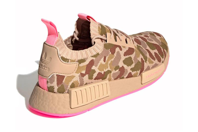 adidas nmd r1 primeknit duck camo pink g57940 menswear streetwear kicks shoes footwear trainers runners sneakers spring summer 2021 collection ss21 info
