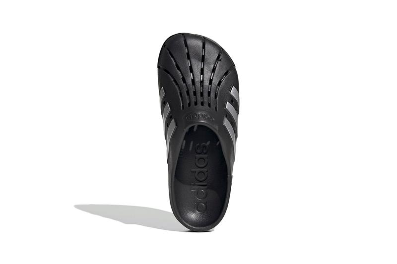 adidas Originals adilette Clogs Core Black Silver Metallic FY8969 Work From Home Indoor Footwear Pandemic Covid-19 Coronavirus WFH Shoes Slides Sandals Comfy Superstar Three Stripes EVA Footbed Slip-On Hype