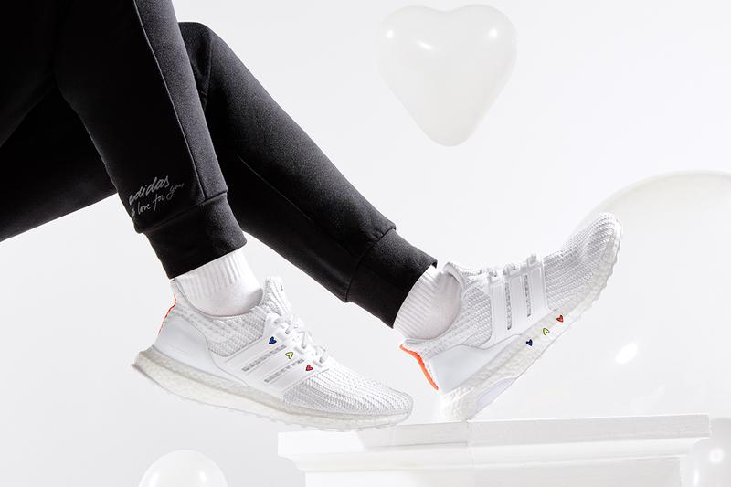 adidas valentine's day ultraboost 4 dna GZ9227 black white GZ9232 sambarose swarovski H05131 H05130 GZ8618 tights sweatpants t-shirts cropped tees crews hoodies jackets release info store list photos buying guide price