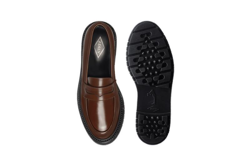adieu type 159 black gold brown penny loafers release information tres bien buy cop purchase