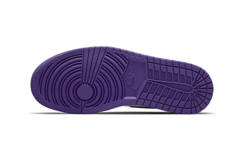 Air Jordan 1 High OG WMNS Court Purple Official Look Release Info CD0461-151 White Price Buy