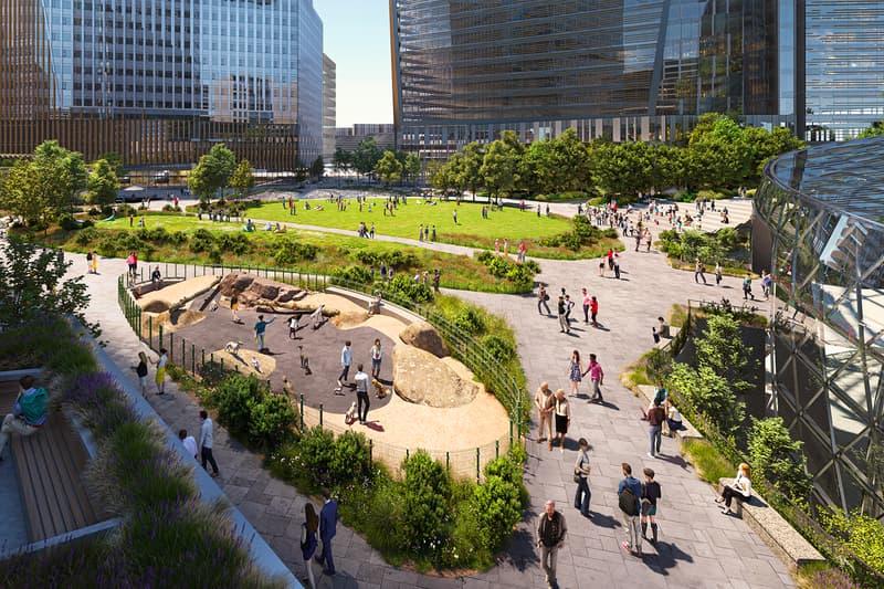Amazon HQ2 Futuristic Helix Design Unveiled Jeff Bezos Arlington Virginia Headquarters Sustainable Sustainability Open Space Acres Community Focused Amazon's Climate Pledge Green LEED Platinum Office