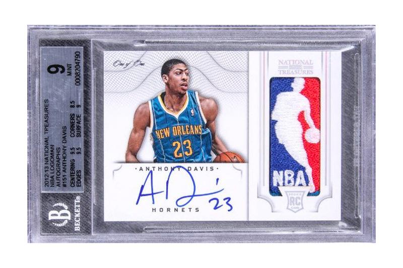 Anthony Davis Autographed Rookie Card Goldin Auction NBA Los Angeles Lakers All-Star NCAA Championship Olympic Games Trading Cards Sports Cards Logoman New Orleans Pelicans