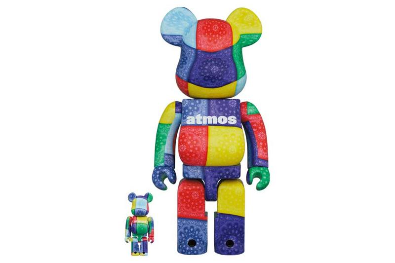 atmos medicom toy bandanna bearbrick multicolor black white purple blue red yellow green official release date info photos price store list buying guide