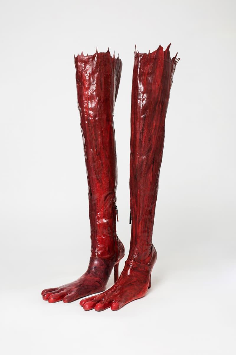 AVAVAV Ex-Pyer Moss Designer Beate Karlsson Collection Boots Four Toe Monster Heels Deadstock Materials Sustainability Florence Brand Emerging Label Linda Friberg